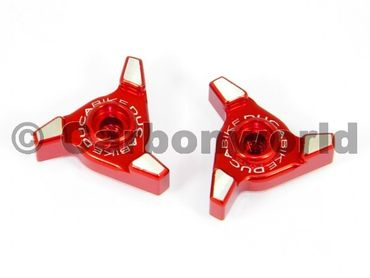 Windscreen adjusters-exagon red  Ducabike for Ducati Multistrada 1200