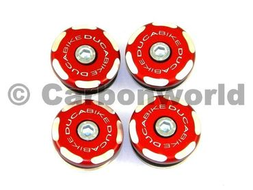 Frame plugs racing red Ducabike for Ducati 1199 Panigale – Image 1