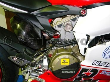 Frame plugs racing red Ducabike for Ducati 1199 Panigale – Image 4