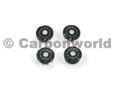 Frame plugs black Ducabike for Ducati Monster 620 - 1000