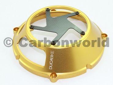 Kupplungsdeckel Trockenkupplung gold Ducabike für Ducati – Bild 3