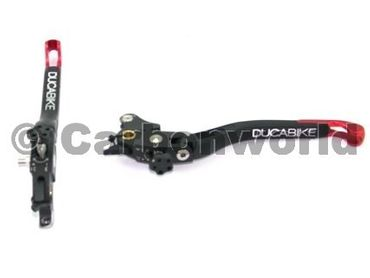 brake and clutch leversrs red Ducabike for Ducati – Image 1