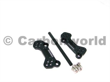 adjustable rear sets supports black Ducabike for Ducati 848 1098 1198 – Image 1
