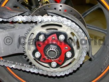 chain sprocket carrier black/red Ducabike for Ducati – Image 2
