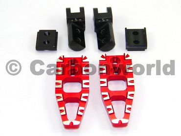 foot peg red adjustable Ducabike  for Ducati