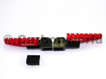 foot peg red adjustable Ducabike  for Ducati – Image 1