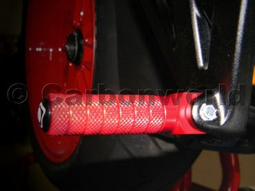 reposes pieds rouge Ducabike pour Ducati Monster, Hypermotard, Multistrada, Diavel, Scrambler – Image 2