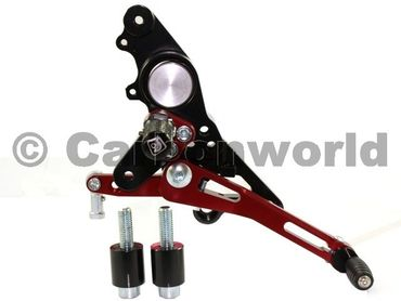 rearset black/red Ducabike for Ducati Multistrada , Hypermotard – Image 3