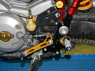 rearset black/gold Ducabike for Ducati Multistrada , Hypermotard – Image 2