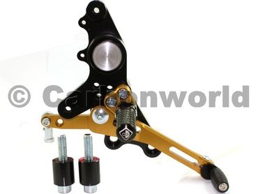 rearset black/gold Ducabike for Ducati Multistrada , Hypermotard – Image 3