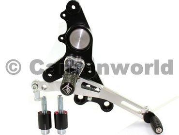 rearset black/silver Ducabike for Ducati Multistrada , Hypermotard – Image 3