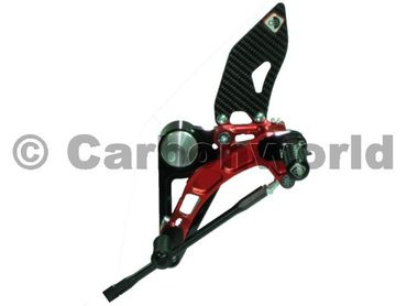 rearset black/red Ducabike for Ducati Monster S2R S4R S4RS – Image 2