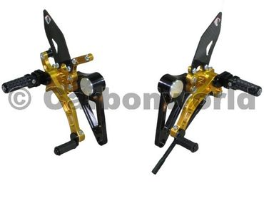 rearset black/gold Ducabike for Ducati Monster S2R S4R S4RS – Image 1