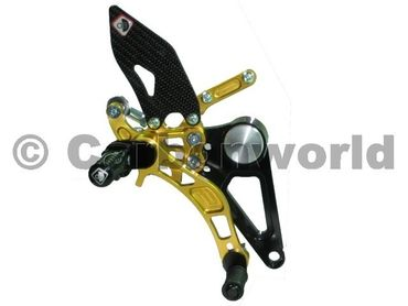 rearset black/gold Ducabike for Ducati Monster S2R S4R S4RS – Image 2