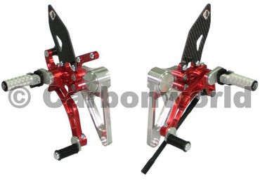 rearset silver/red Ducabike for Ducati Monster S2R S4R S4RS – Image 1