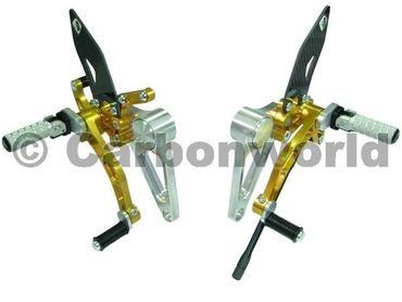 rearset silver/gold Ducabike for Ducati Monster S2R S4R S4RS – Image 1