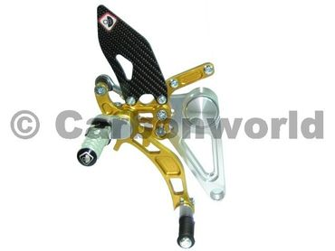 rearset silver/gold Ducabike for Ducati Monster S2R S4R S4RS – Image 2
