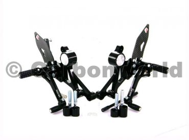 rearset black Ducabike for Ducati Monster 696 796 1100 – Image 1