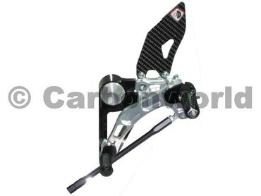 rearset black/silver Ducabike for Ducati Monster 696 796 1100 – Image 2