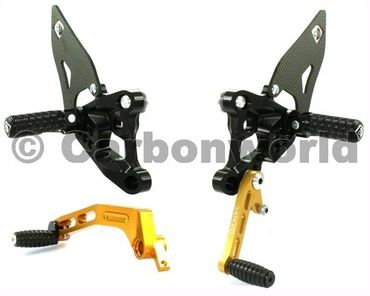 rearset black/gold Ducabike for Ducati 848 1098 1198