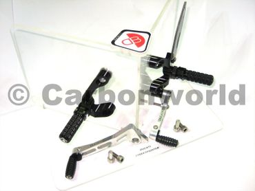 rearset black/silver Ducabike for Ducati Streetfighter 848 / 1098 – Image 1