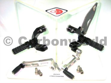rearset black/silver Ducabike for Ducati Streetfighter 848 / 1098 – Image 2