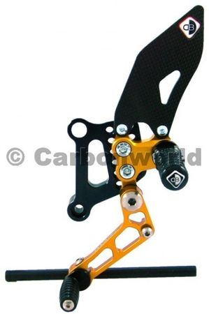 rearset black/gold Ducabike for Ducati 848 1098 1198  – Image 2