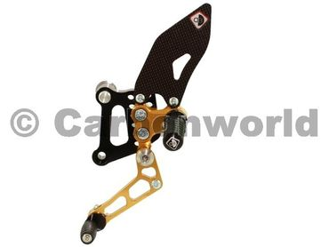 rearset black/gold Ducabike for Ducati 749 999  – Image 2