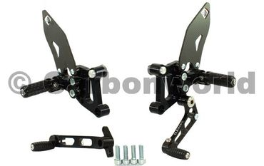 rearset black Ducabike for Ducati 749 999  – Image 1