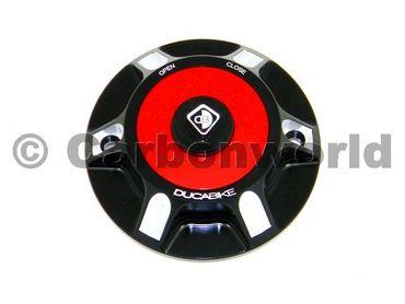 Tankdeckel schwarz rot Ducabike für Ducati Hypermotard 1100 / 796 / 821 – Bild 1
