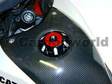 bouchon de réservoir noir rouge Ducabike pour Ducati Hypermotard 1100 / 796 / 821 – Image 2