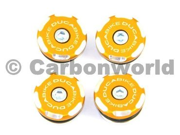 kit frame plugs  gold Ducabike for Ducati 1199 Panigale – Image 1