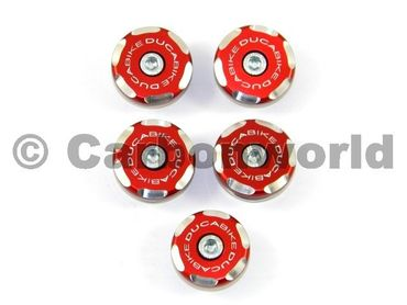 kit frame plugs  racing red Ducabike for Ducati Multistrada