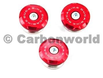 kit frame plugs  red Ducabike for Ducati ST2, ST3, ST4