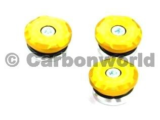 kit frame plugs  gold Ducabike for Ducati ST2, ST3, ST4