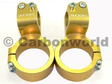bracciali di sterzo diametro 50 mm rialzo 35 mm oro Ducabike for Ducati