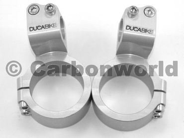bracciali di sterzo diametro 53 mm rialzo 35 mm argent Ducabike for Ducati