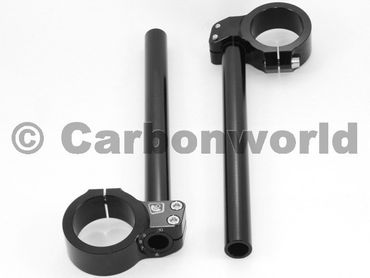adjustable handlebar 50mm rise 0 mm Ducabike black for Ducati – Image 1