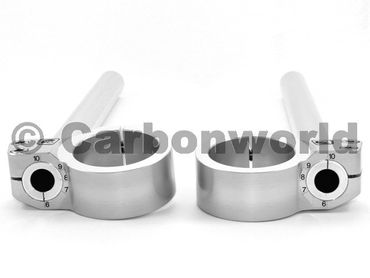 adjustable handlebar 50mm rise 0 mm Ducabike silver for Ducati – Image 2