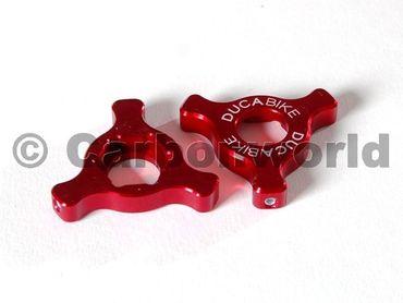 Gabeleinsteller rot Ducabike für Ducati ( 22 mm) – Bild 1