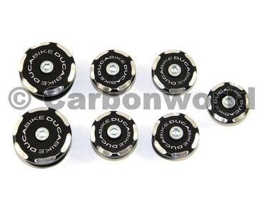 Frame plugs racing black Ducabike for Ducati 848 - 1098