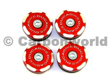 Frame plugs racing red Ducabike for Ducati Monster 620 - 1000
