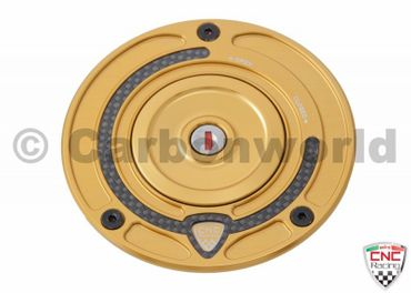 Fuel tank cap gold CNC Racing Key block for Ducati – Image 1