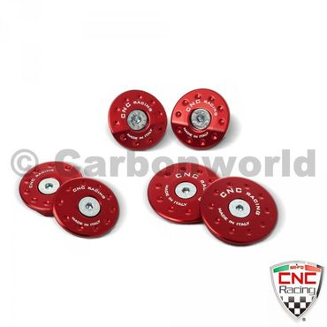frame plugs red CNC Racing for MV Agusta F3 675 800 – Image 1