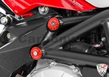 frame plugs red CNC Racing for MV Agusta F3 675 800 – Image 2