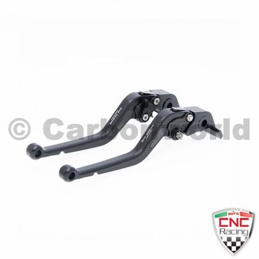 brake and clutch lever 180mm black CNC Racing for Ducati