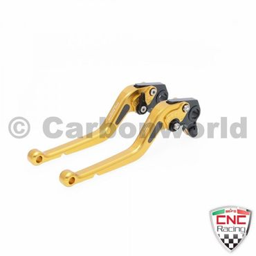 brake and clutch lever 180mm gold CNC Racing for Ducati