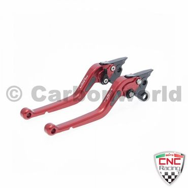 brake and clutch lever 180mm red CNC Racing for Ducati