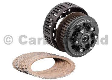 slipper clutch Master Tech + basket/ clutch plates black CNC Racing for Ducati