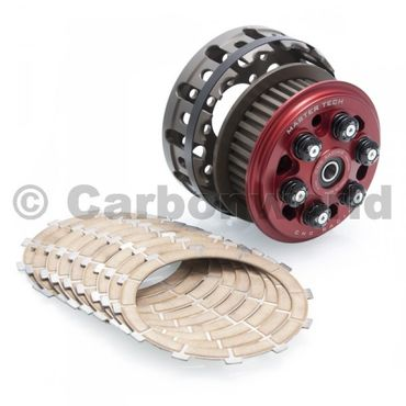 slipper clutch Master Tech + basket/ clutch plates red CNC Racing for Ducati